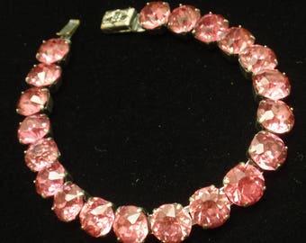 Pink Rhinestone Vintage Bracelet