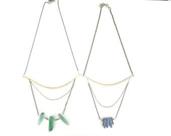 gemstone bib necklace