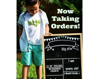 NEW First/Last day of school chalkboard sign/ chalkboard sign/ back to school/ first day of school sign/ first day of school chalkboard sign