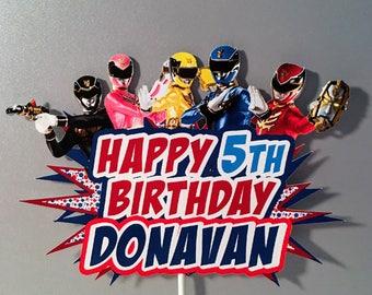 Power Rangers Cake Topper, Power Ranger Party Cake Topper, Power Ranger centerpiece, Power Rangers Banner, Ower Ranger Cake, Megaforce