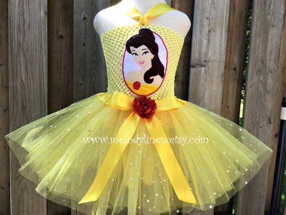 Bien-aimé Belle tutu Beauty and the Beast tutu dress set Belle outfit EC51