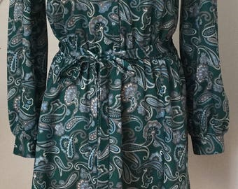 Vintage Paisley Print Tunic Dress