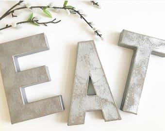Eat Silver Letter Kitchen Decor; eat; eat letters; silver letters;eat sign; eat letters; kitchen decor; eat silver letters