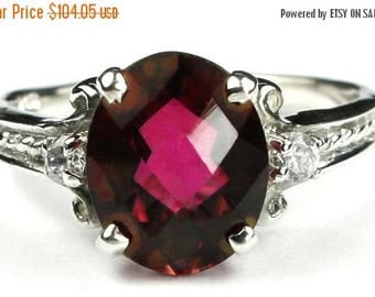 On Sale, 30% Off, Crimson Fire Topaz, 925 Sterling Silver Ring, SR136
