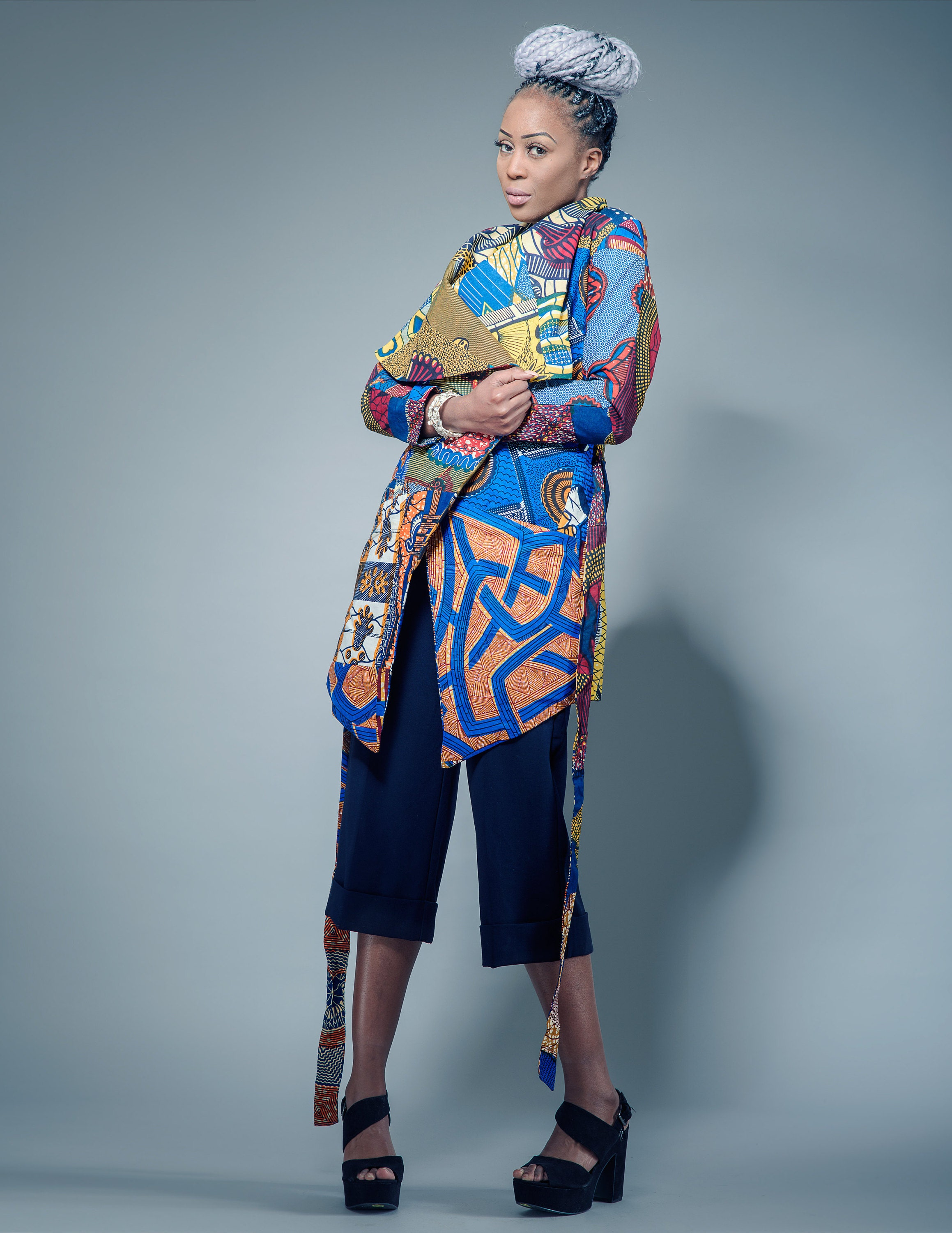 Sosome African Print & Patchwork Coats and Clothing