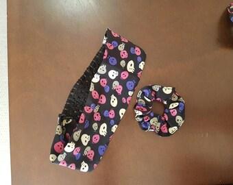 Skull Scrunchie and Headband Set