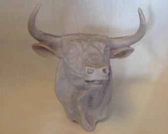 Vintage wall hanging bull