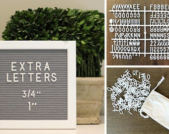 "3/4"" or 1"" Helvetica Sprue Letter Set for your Letter Board!  290+ Characters!"