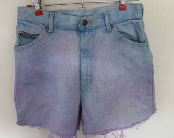 High Waist Size 7 Shorts Tie Dye Denim Vintage Upcycle