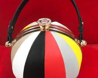 Multicolored Globe Handbag