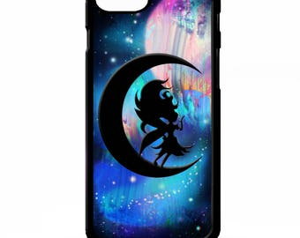 Fairy princess crescent moon fairies stars pattern print illustration art cover for Samsung Galaxy S5 S6 s7 s8 plus edge note 4 5 phone case