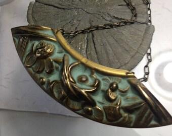 Antique Patina Pendant Necklace