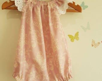 Baby Girl floral romper playsuit sunsuit size 00
