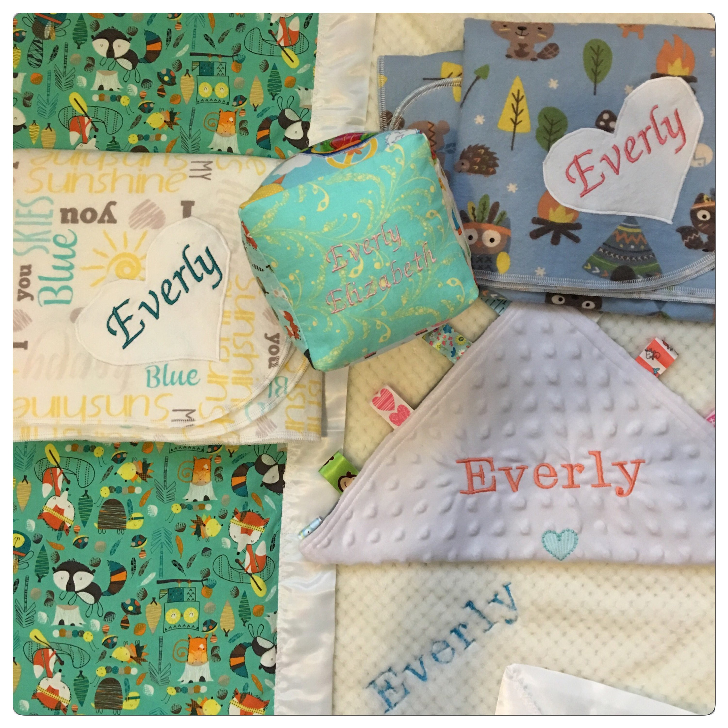 Embroidered baby gift set embroidered personalized baby blankets embroidered baby gift set embroidered personalized baby blankets 5 inch soft baby blocks negle Image collections