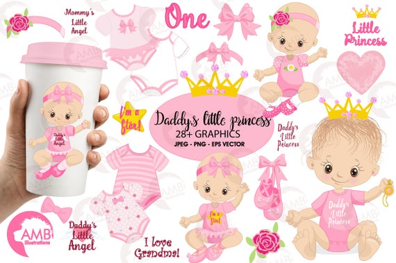 baby girl clip art girl onezies little princess clipart create