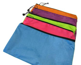 Pencil Case Makeup Bag Zippered Pouch Personalized or Monogram Nylon