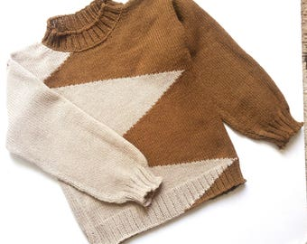 Knitted sweater   for children .