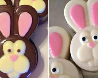 Chocolate Easter Bunny Oreo Cookies (x4)