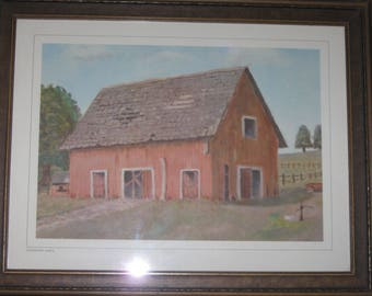 Deserted Barn by Dwight D. Eisenhower 1958 with Provenance by his Aide de Camp