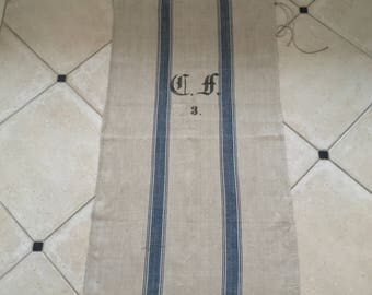 NS1542 German Vintage Linen Grain Sack Fabric