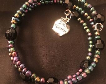 Beaded Teacher Bracelet