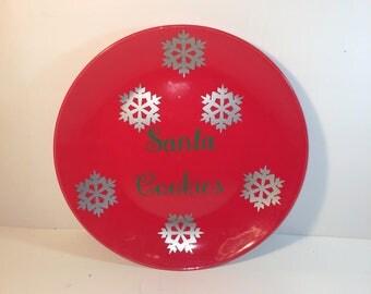Santa Plate, Santa Cookies, Christmas Decor, CIJ, Christmas, Santa Decor, Cookie Plate