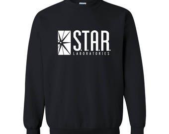 STAR Labs Sweatshirt Star Laboratories S.T.A.R. Lab The Flash Sweater Sweatshirt Crew Neck Crewneck Pullover Unisex