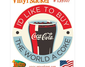Coca-Cola Like to Buy the World a Coke Vinyl Sticker - 159167