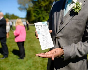 Wedding Program, Printed Wedding Program