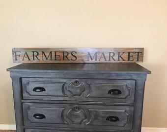 Handmade Farmers Market Sign