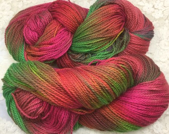 Hand dyed organic cotton dk wt 300 yds chilipeppers great adirondack knitting shawls scarves sweaters