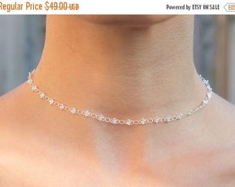 Close Out Sale Sterling Silver Chain Choker Necklace