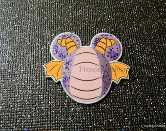 Figment Pin Handcrafted Mouse Head Ears With A Bit Of Glitz Brooch Flair Lapel Pin Tie Tack Hat Pin