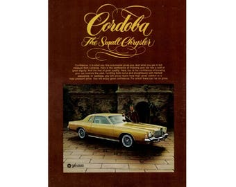 Vintage magazine poster advertisement for a 1976 Chrysler Cordoba - 23