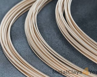 Yellow Gold-Filled Round Wire 12/20 (Soft)