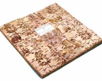 "Bear Creek Batiks Layer Cake (42 - 10"" x 10"" Squares) designed by Moda Fabrics"