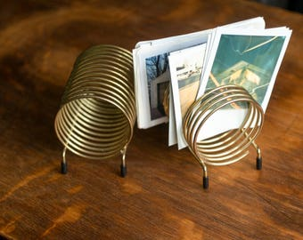 Spiral brass letter holders