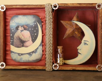 PaperMoon Couple Shadowbox - Assemblage