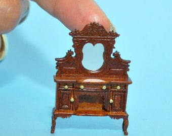 "1:48 1/4"" quarter scale Kensington Victorian Sideboard Walnut High quality for dollhouse miniature"