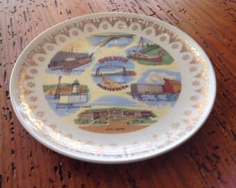 Vintage ceramic souvenir plate- Duluth, Minnesota