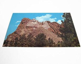 Vintage Postcard, Mount Rushmore National Monument, Black Hills SD, Dexter Press, South Dakota Souvenir, CJ Tounsley, Barney Hanscom Photo