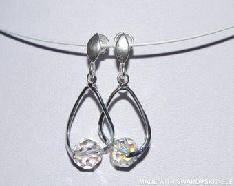 SWAROVSKI multicolored crystal earrings / 925 sterling silver
