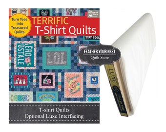 Tee Shirt Quilt Book, Terrific T-Shirt Quilts -  Karen Burns - Softcover # B1337T - 64 pages - DIY Project - Interface Option