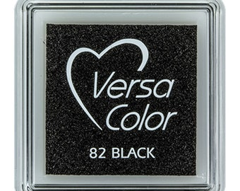 Black ink pad, VersaColor ink pad, VersaColor black 82, craft supplies, ink pad for rubber stamps, DIY, water based ink pad, small inkpad