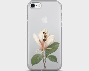 Clear iPhone 7 Case - Floral design - Transparent iPhone cover - iPhone 7  Plus Case - iPhone 6 case - iPhone 6s case