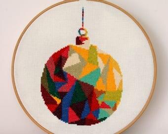 Christmas Decoration Cross Stitch Pattern PDF ** Instant Download **