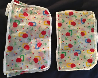 Vintage toaster cover, kitchen appliance covers , cherries