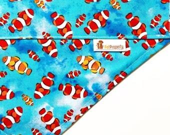 Over the Collar Pet Bandana - Dog Bandana - Cat Bandana - Bandana - clown fish
