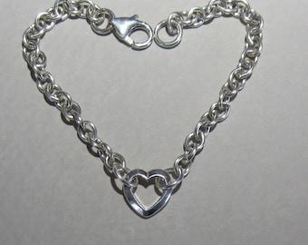 Valentine silver bracelet