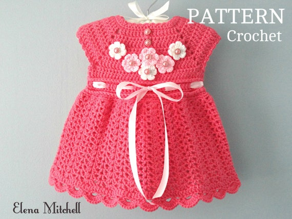 Crochet PATTERN Baby Dress Baby Girl Pattern Crochet Newborn Outfit Infant Dress Pattern Baby Girl Clothes Crochet Baby Dress PATTERN PDF